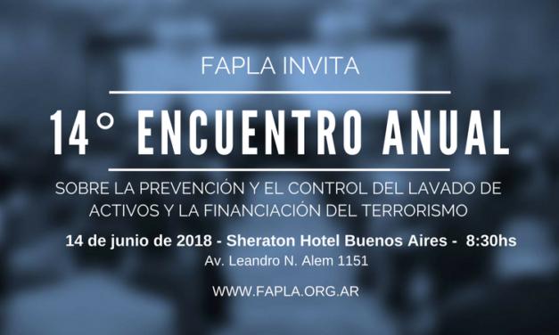 Encuentro Anual 2018 FAPLA. Inscripción.